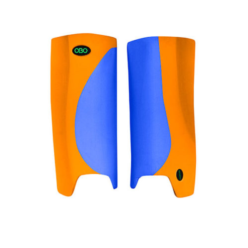 OBO Robo Hi Rebound Hockey Goalkeeping Legguards - Blue/Orange