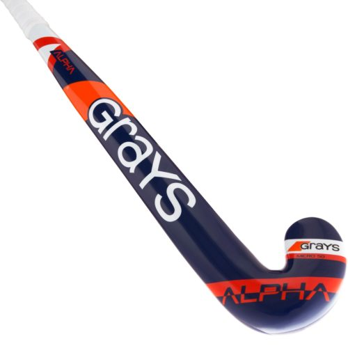 Grays Alpha Ultrabow Junior Wooden Hockey Stick - Navy\Red