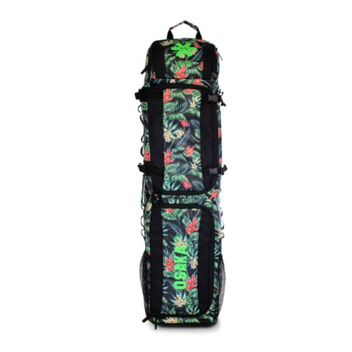 OSAKA SP Large Hockey Stick and Kit Bag Navy Flowers Green