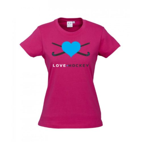 Love Hockey Pink Childrens T-Shirt