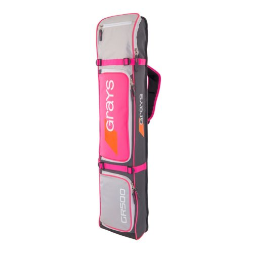 Grays GR500 Hockey Stick Bag - Grey\Silver\Pink