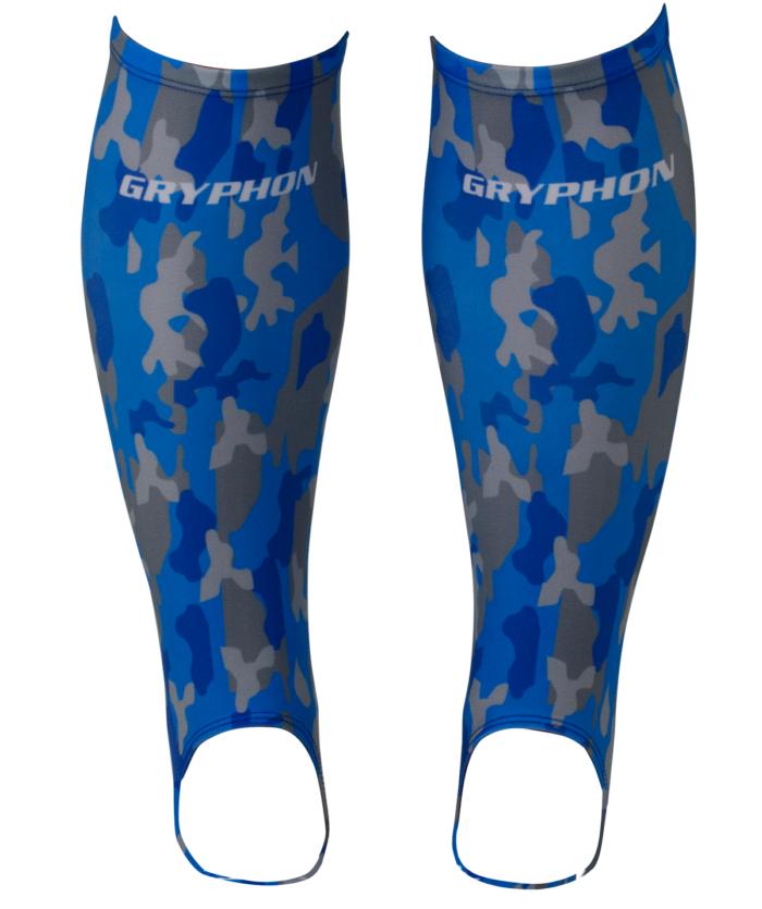 Gryphon Blue Camo Hockey Shinliners