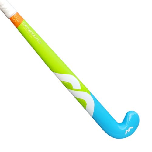 Mercian Genesis 0.3 Composite Junior Hockey Stick - Cyan\Lime