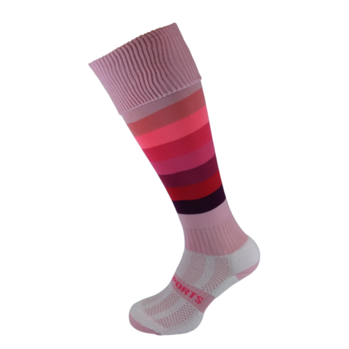 Pink Rainbow Hockey Socks