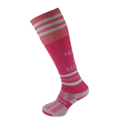 Hockey is My Religion Pink Hockey Socks