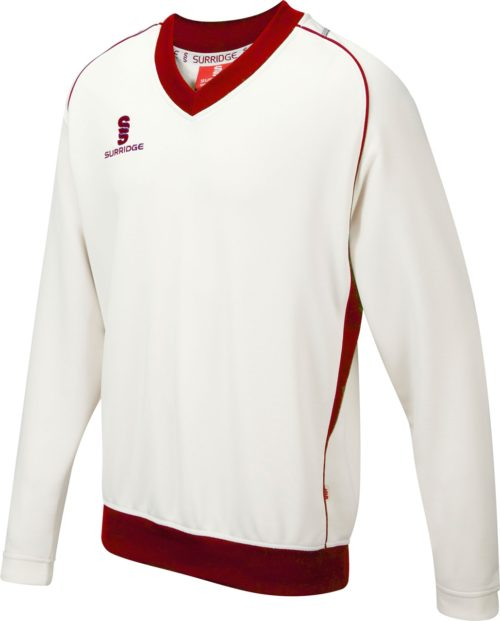 Surridge Junior Curve Long Sleeve Cricket Sweater