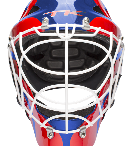 TK S1 Goal Keeping Helmet - Royal Blue\Red
