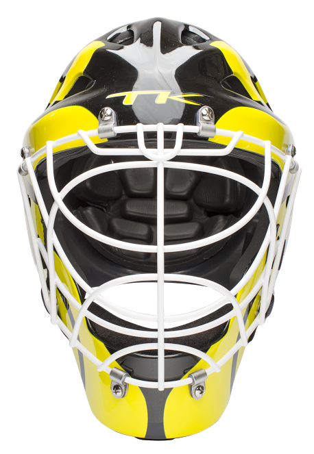 TK T1 Goal Keeping Helmet - Black\Yellow