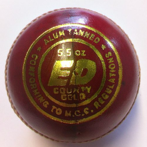 ED Sports County Gold Mens Cricket Ball Red