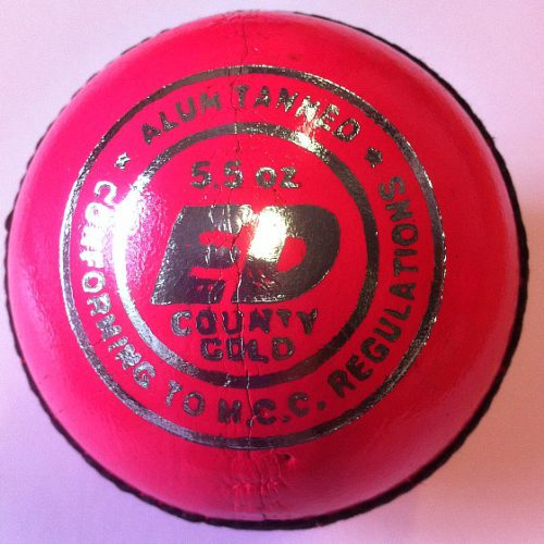 ED Sports County Gold Cricket Ball Pink