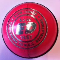 ED Sports Super Test Mens Pink Cricket Ball